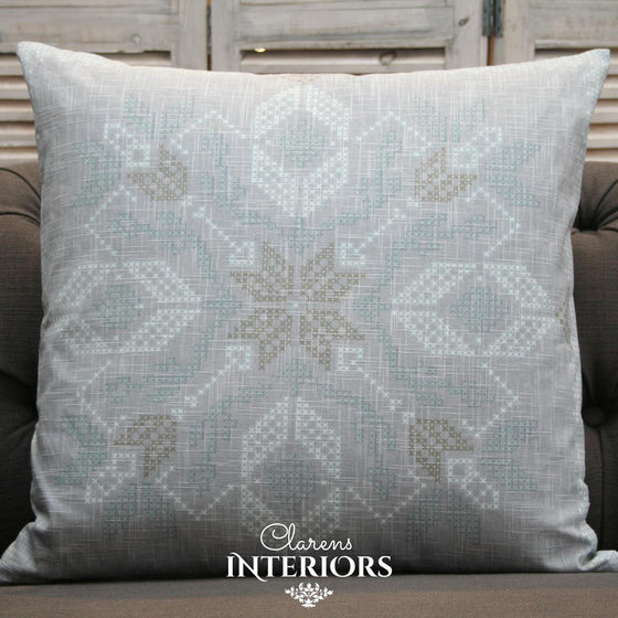 Cross Stitch Natural Cushion