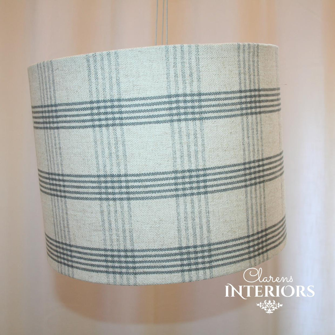 Saville Linen Check Lamp shade