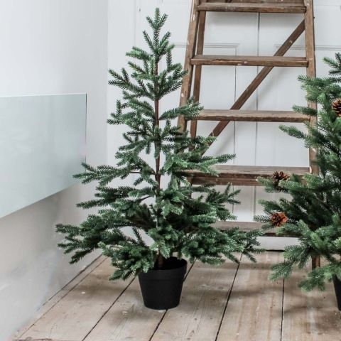 THIN POTTED FIR TREE 90CMS