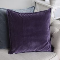 SWEET GRAPE STONEWASHED VELVET CUSHION