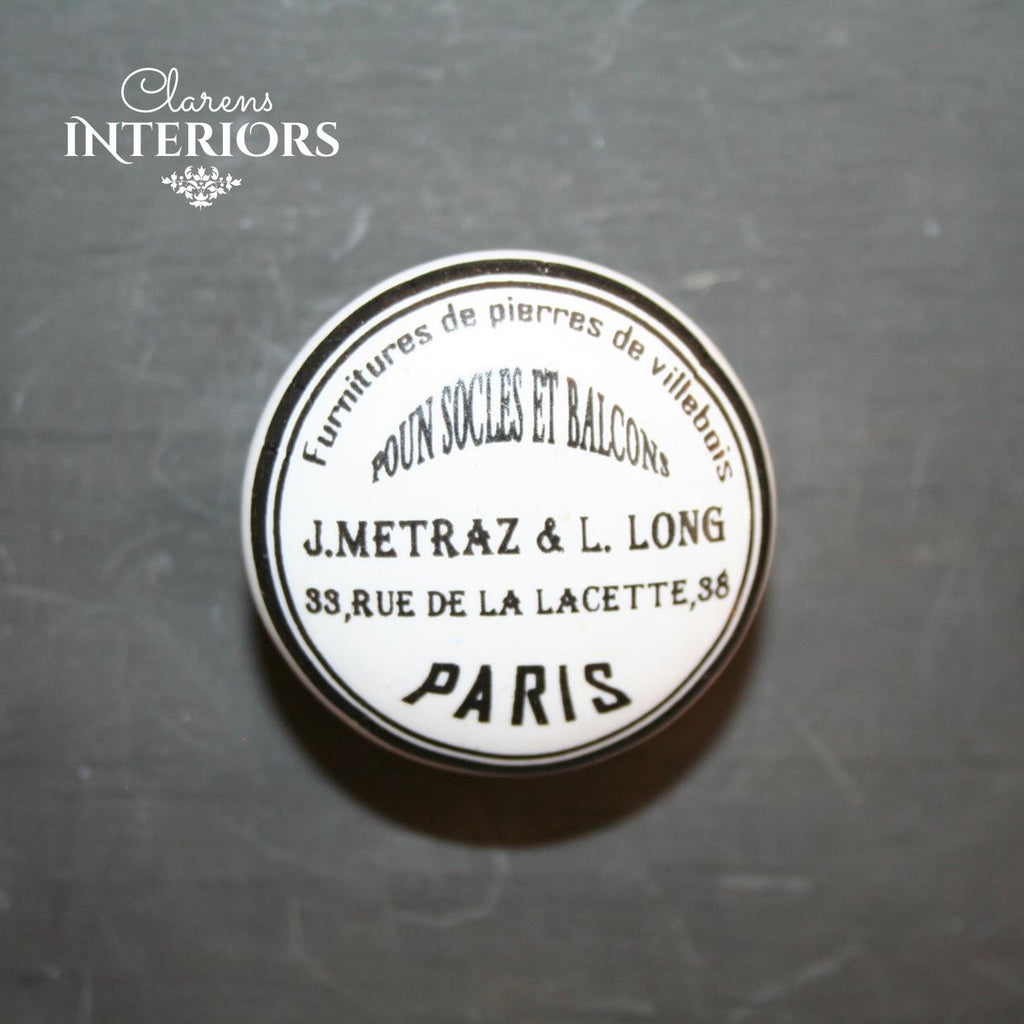 Paris address knob