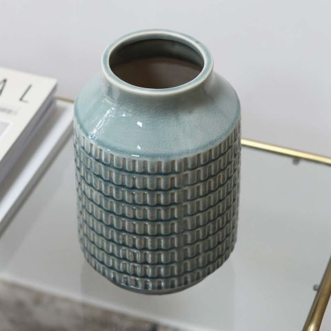 LIGHT BLUE TERRAIN VASE