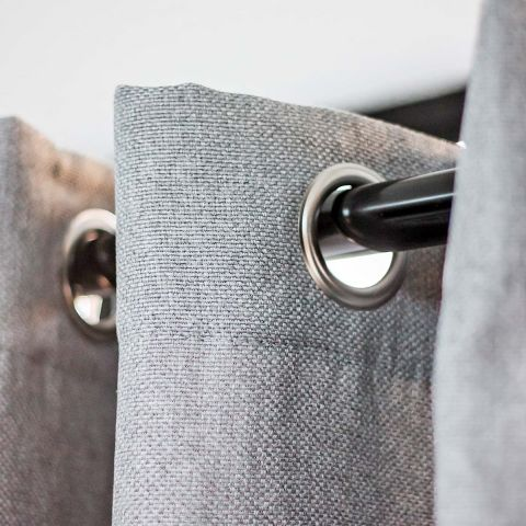 GREY BASKET BLOCKOUT CURTAIN