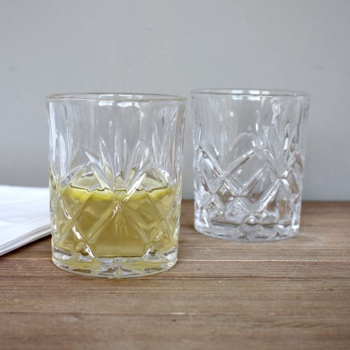 Clear Cut Whiskey Glass