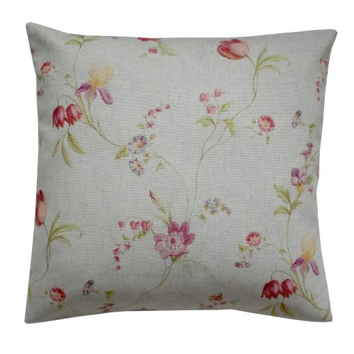 Dainty Trail duck egg cushion