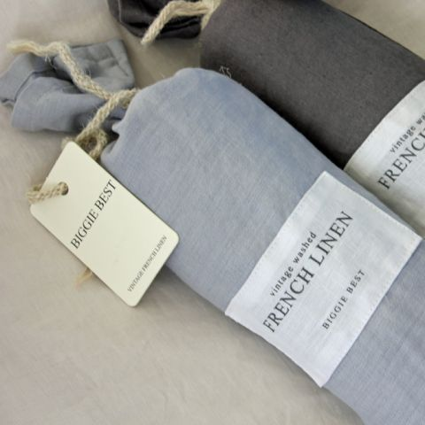 SET OF TWO FRENCH LINEN CLOUD PILLOWCASES