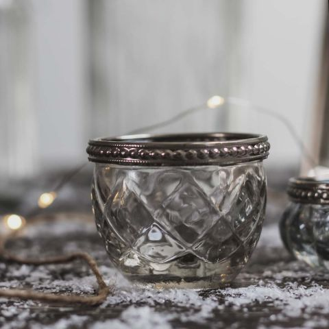 LISMORE GLASS CANDLE HOLDER