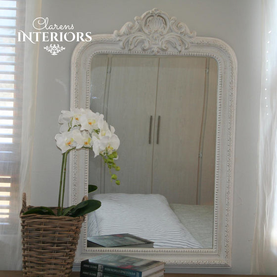 French House Wall Mirror White