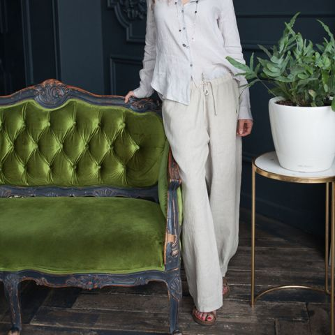 NOA LINEN PANTS - available in white or stone