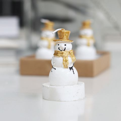 SET OF 4 SNOWMAN TEALIGHTS