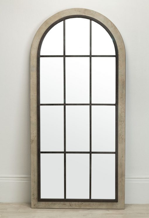 Lola Arch Wall Mirror Natural & Black