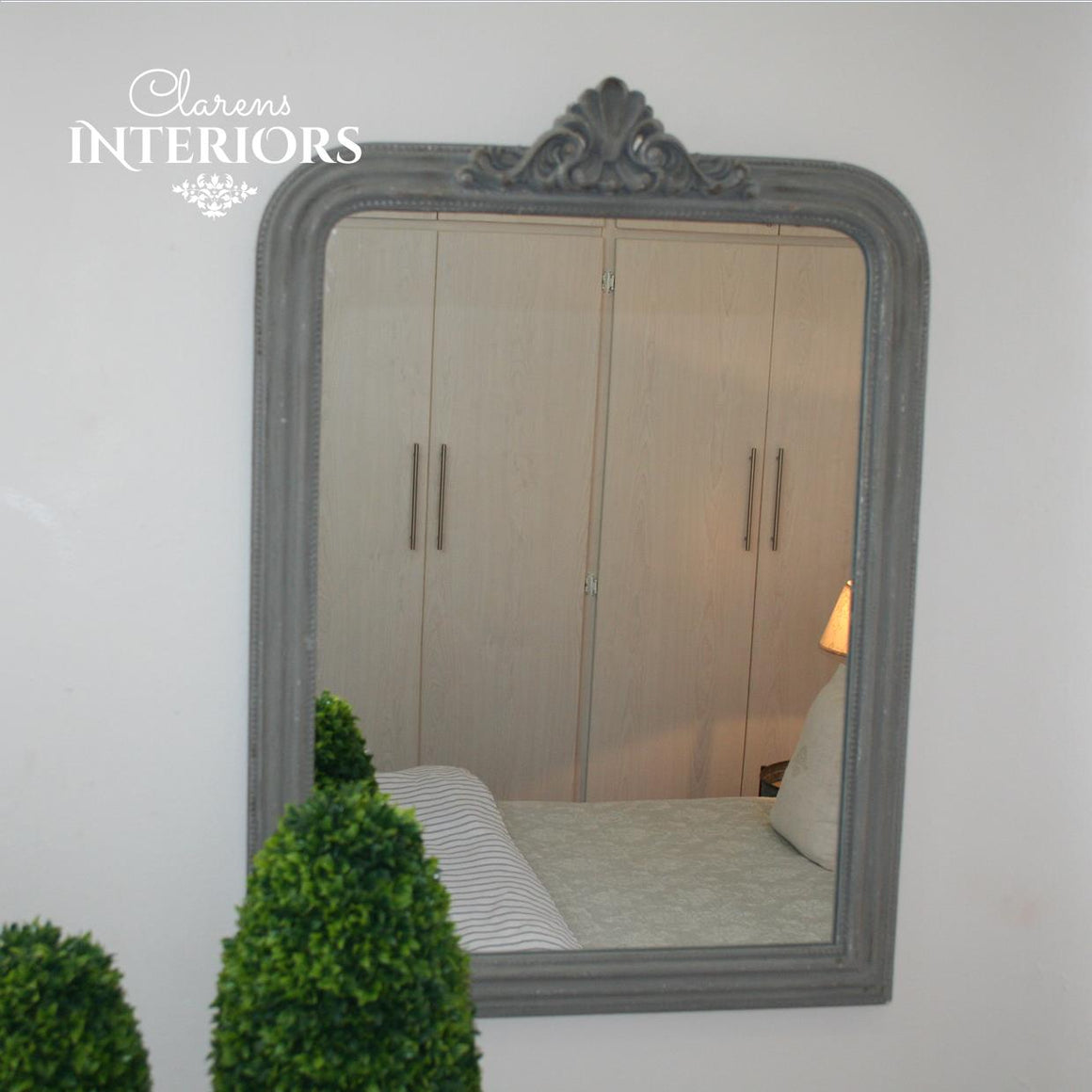 Marseilles Wall Mirror Grey
