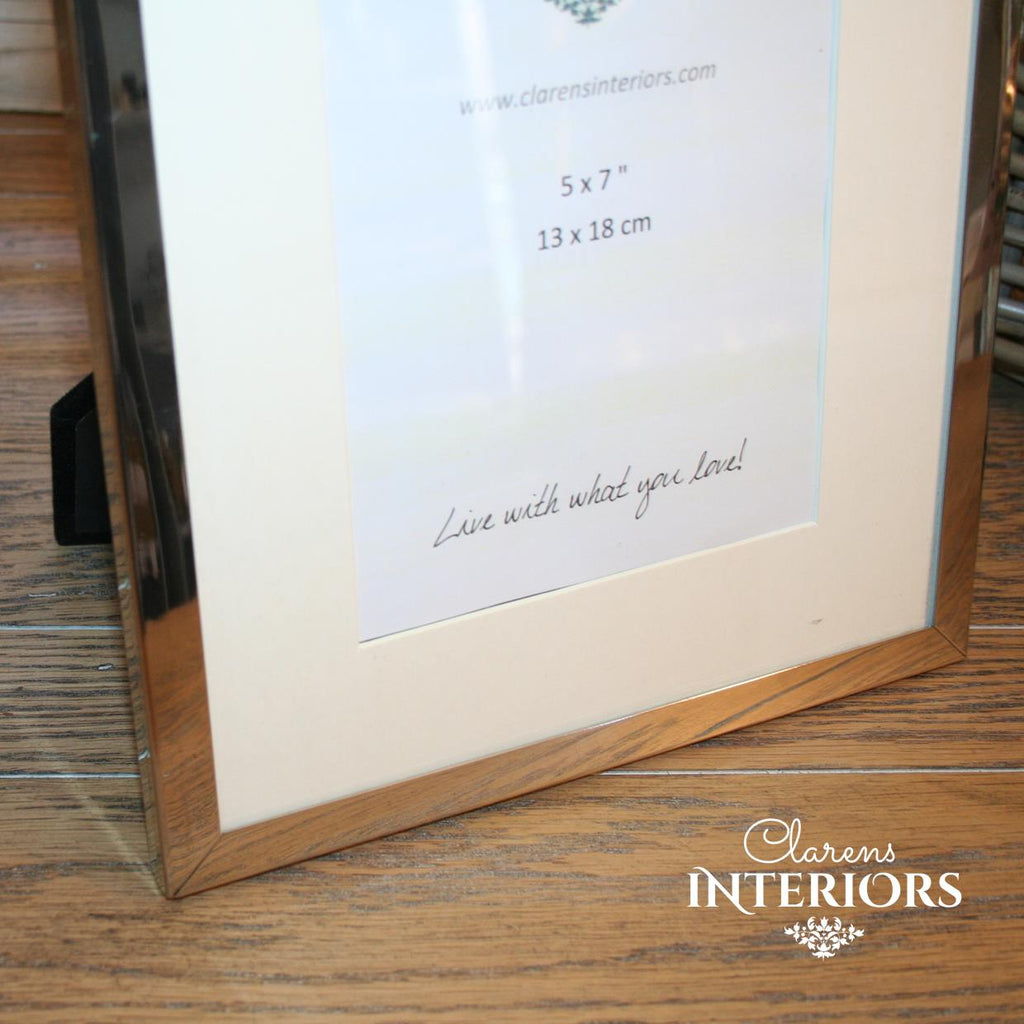 Nickel Plated Photo frame - 5 x 7