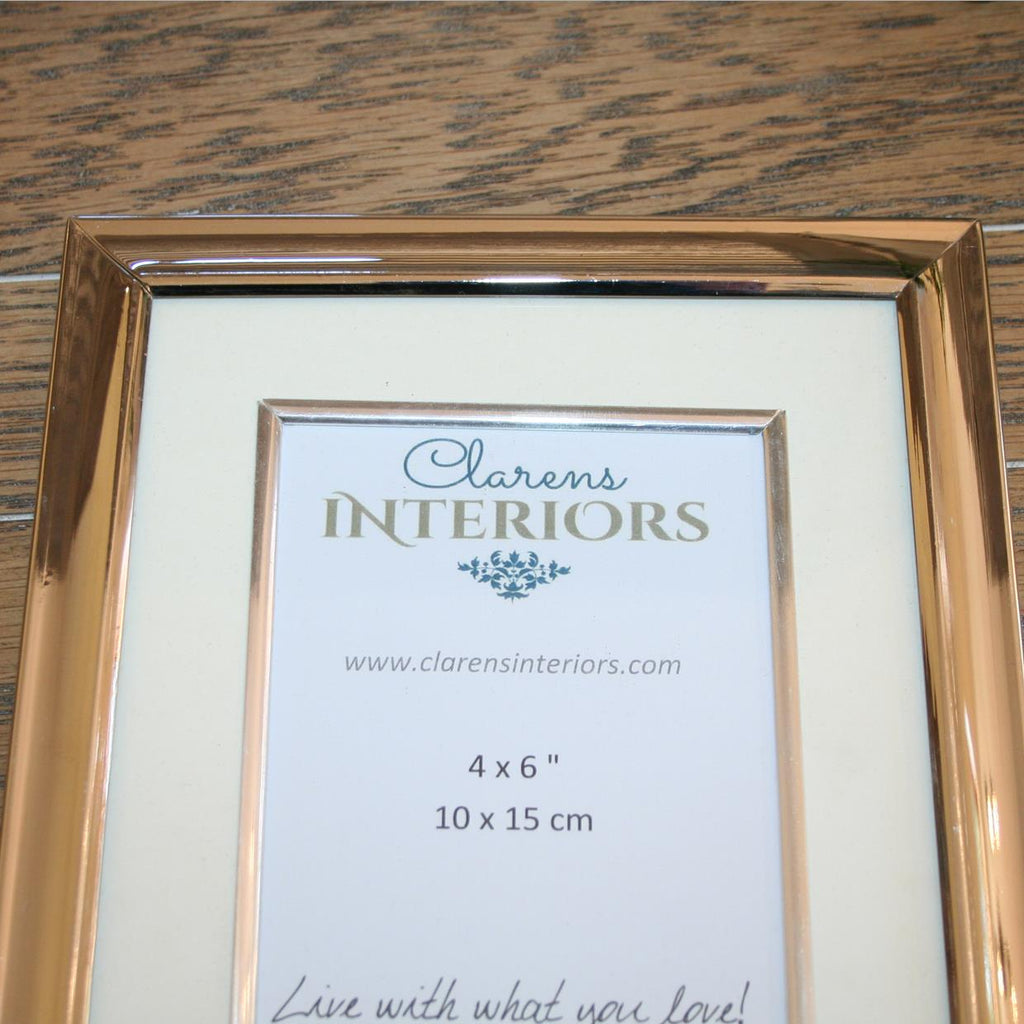 Nickel Plated Photo frame - 4 x 6