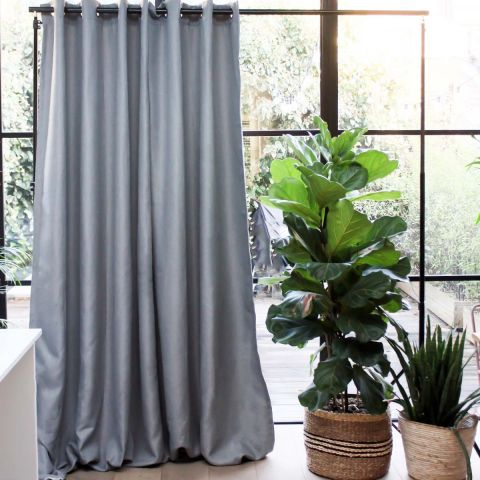 LIGHT GREY BLOCKOUT CURTAIN