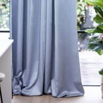 DUSTY BLUE/GREY BLOCKOUT CURTAIN