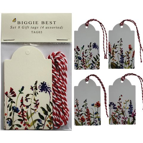 SET OF 8 GARDEN GIFT TAGS