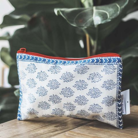 RANGOON TOILETRY BAG - BLUE
