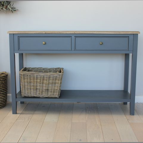 TETBURY GREY/NATURAL CONSOLE TABLE