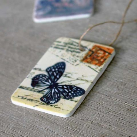 VINTAGE BUTTERFLY GIFT TAG