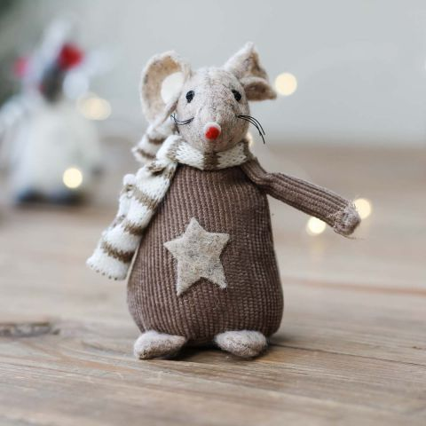 BROWN/GREY LARGE STAR MOUSE