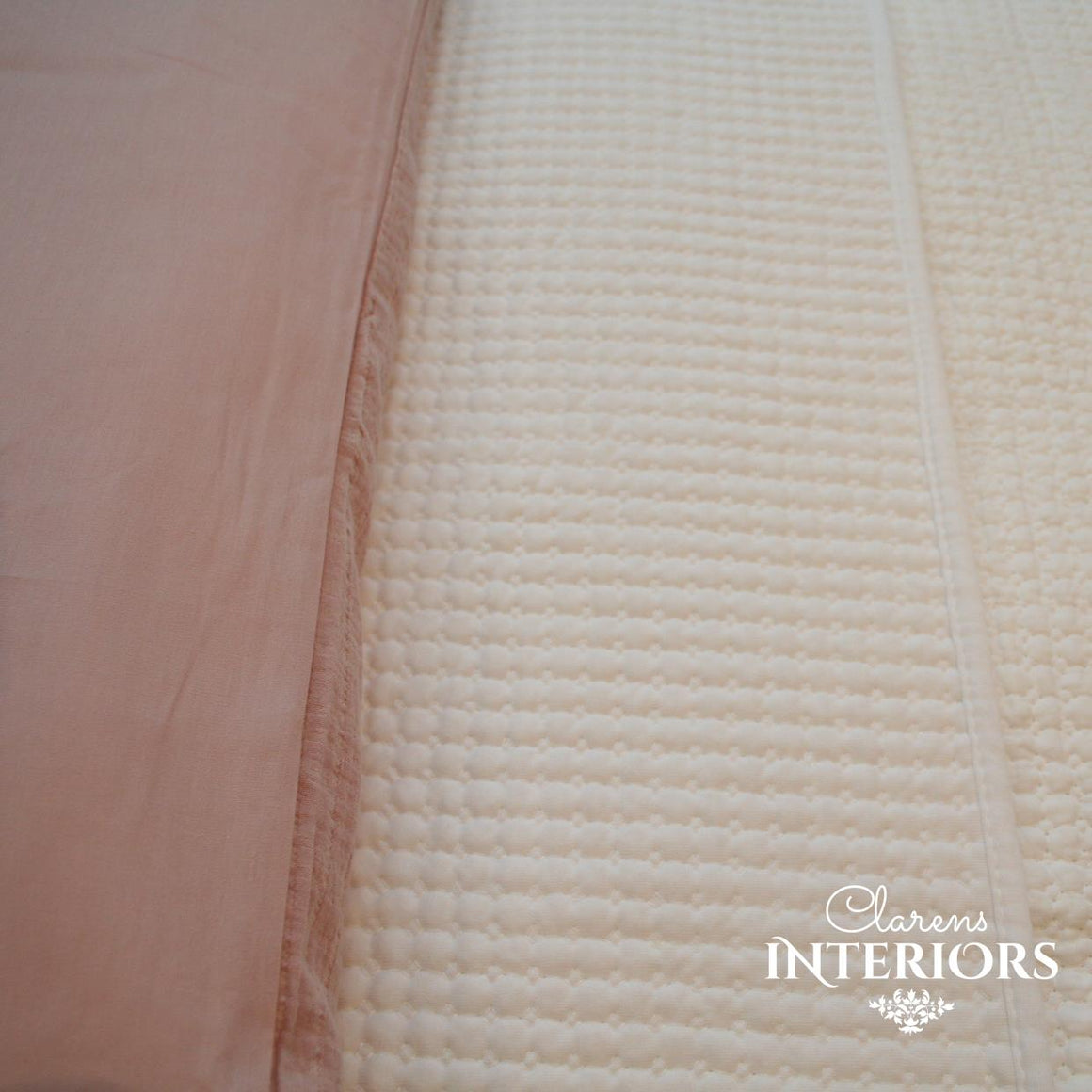 Block Poly Cotton White Quilt