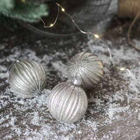 SPARKLE STRIPE BAUBLE