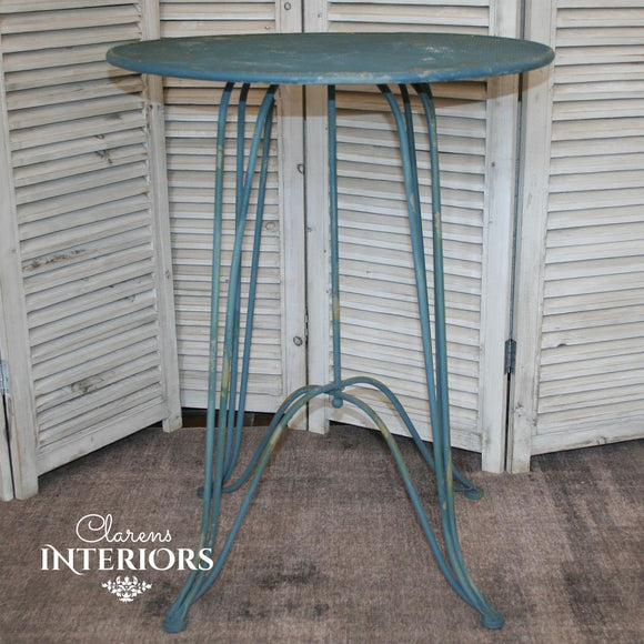 Blue Rusted round table