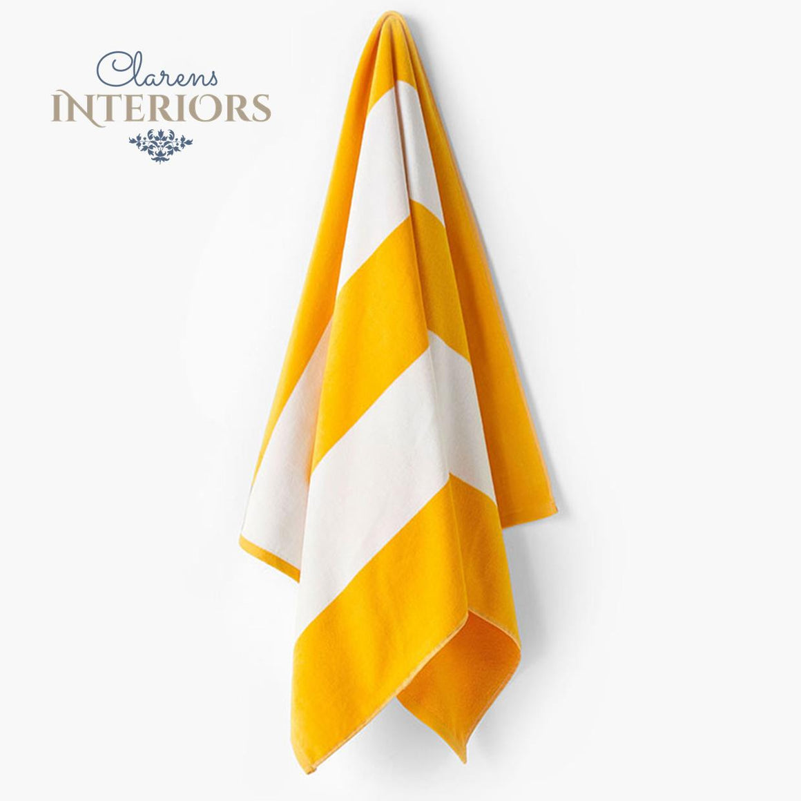 Cabana Yellow Beach Towel