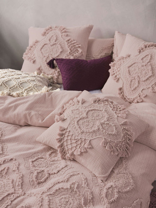Alli - Mauve duvet cover set