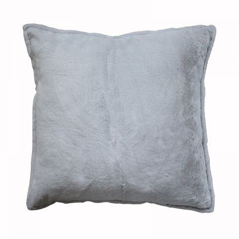 Rabbit fur grey Pillow Sham