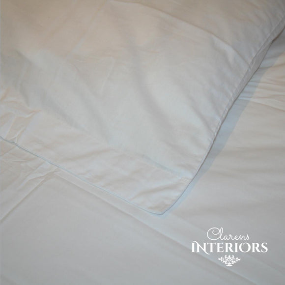 250TC Cotton White Duvet Cover