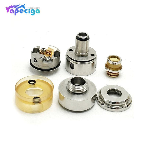 Coppervape Hussar Project X Style RTA 2ml 22mm Exploded View