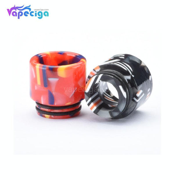 Resin Flag 810 Wide-bore Drip Tip 3 Optional Colors
