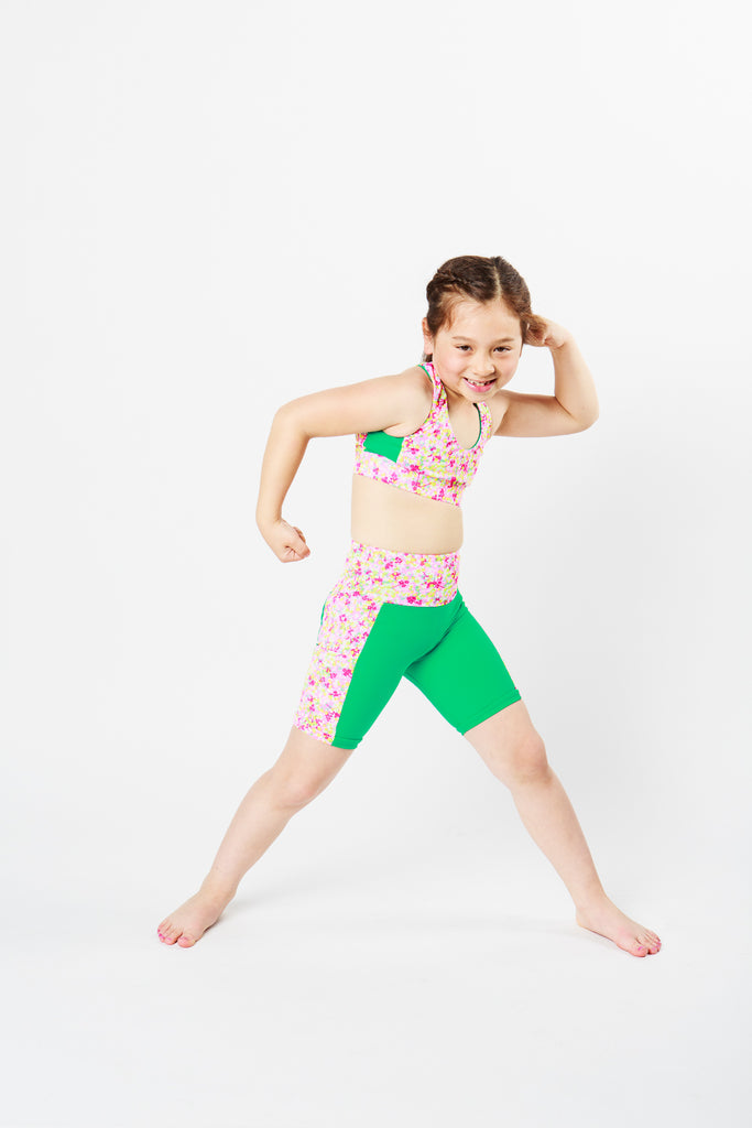 Get Springy!!! Crop & Shorts Mini Me Set