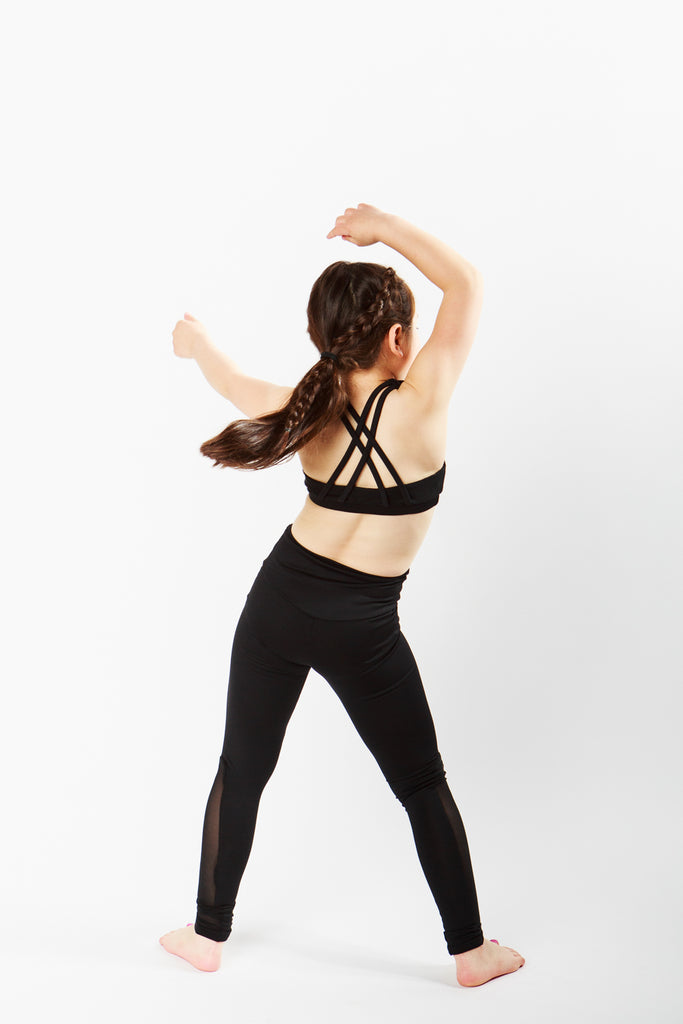 Keep It Simple Black Strappy Crop Top