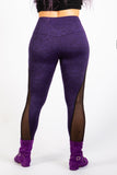 Purple Supplex Mesh Leggings