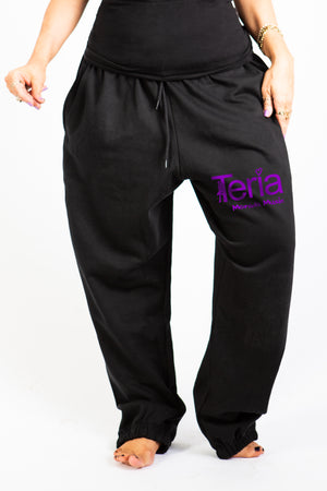 Black Track Pant with Pockets