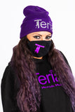 Purple Toque wearing Mask