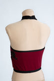 Merlot Magic Halter Crop Top