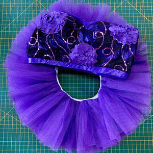Purple Floral Tutu Set