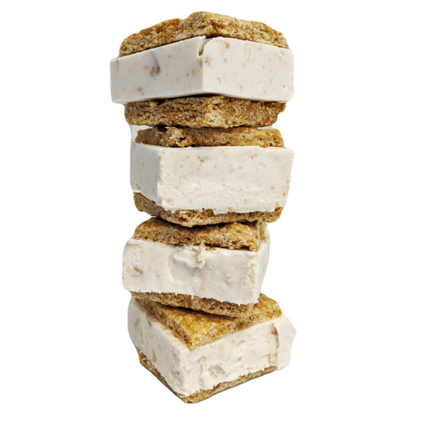 4-Pack Ice Cream Squares: Luxe Oatmeal-Coconut (V)