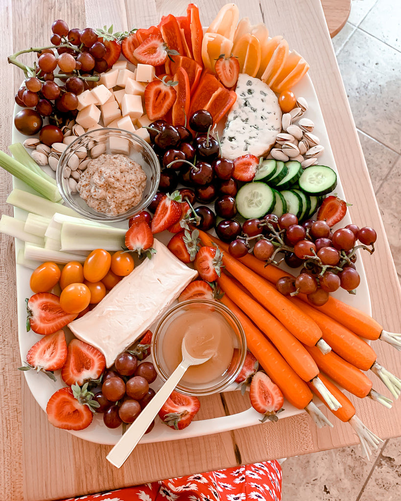 Making a Fruit and Cheese Board