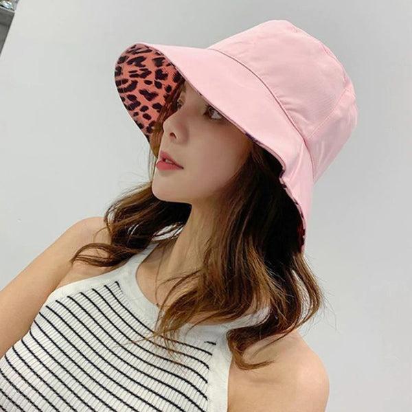 Reversible Leopard Bucket Hat