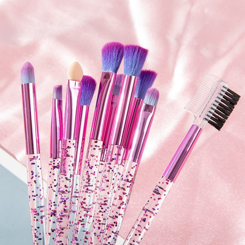 Glitter Makeup Brush Set