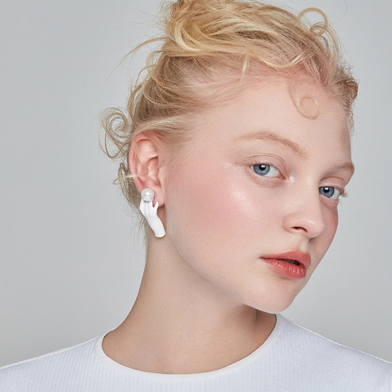 Retro Hands Earrings