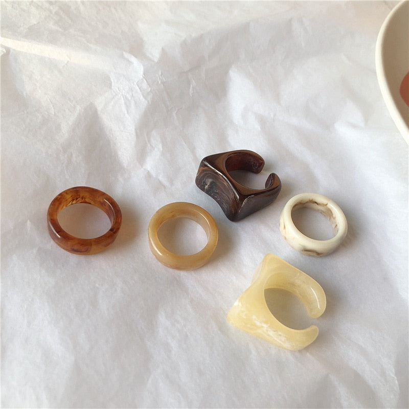 Retro Resin Ring