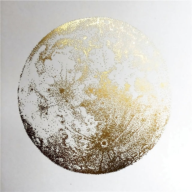 Gold Sphere Canvas Print