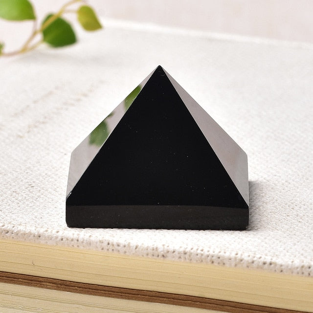 Black Obsidian Crystal Pyramid