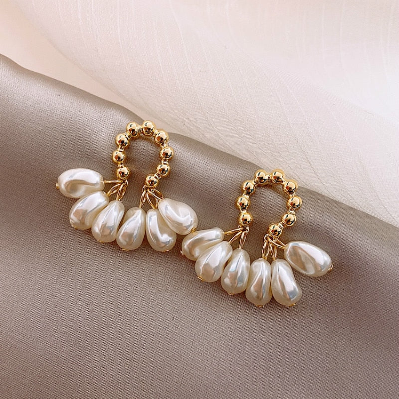 Pearl Fan Earrings